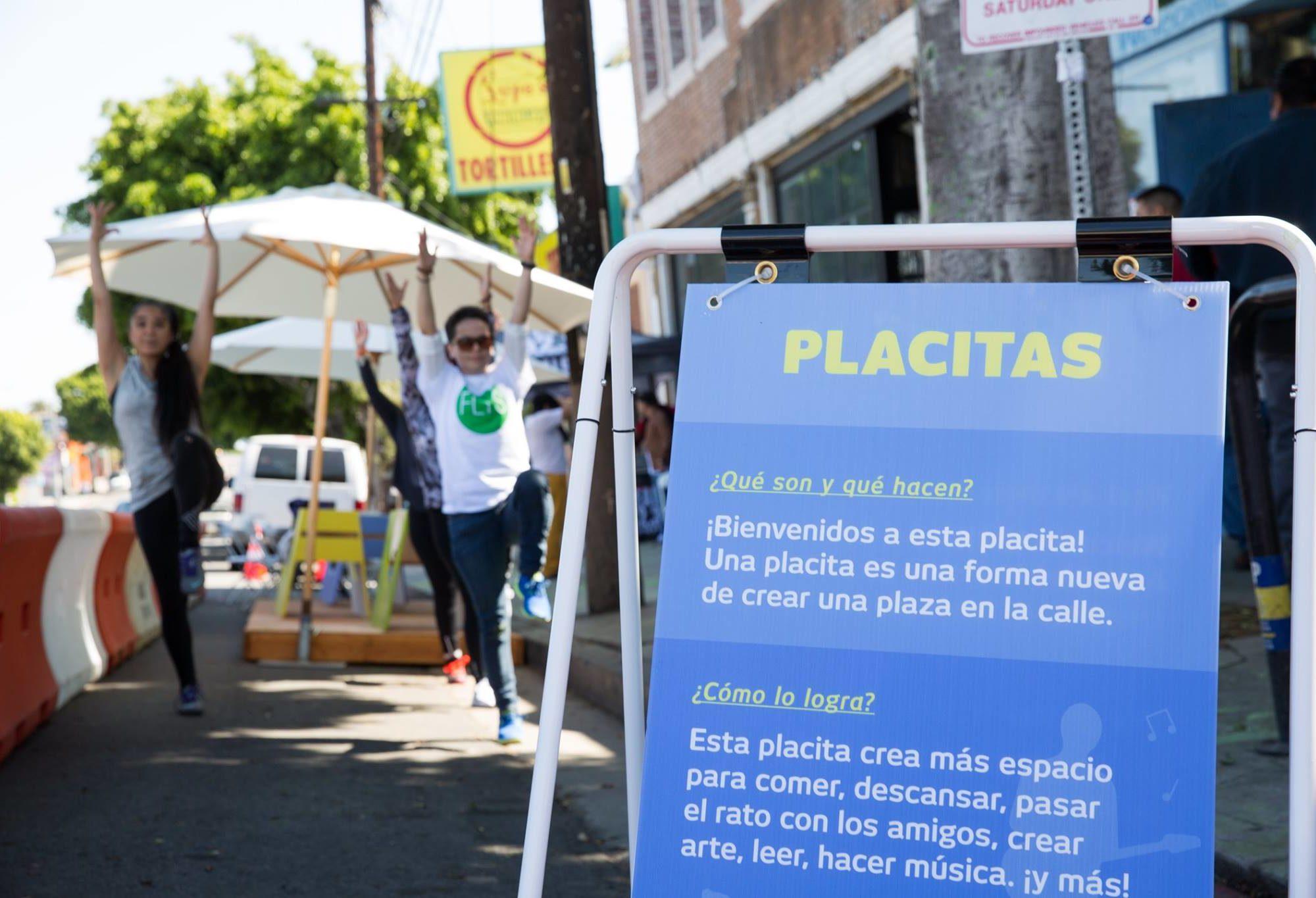 GoHuman_Nuestra Avenida Parklet Activation + Signage